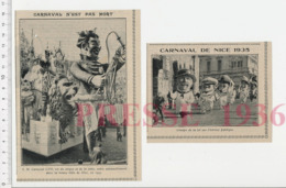 Carnaval Nice En 1935 Carnaval LVII Roi Du Cirque Et De La Foire Dompteur Lion Groupe Loi Sur L'ivresse Publique CHV20 - Zonder Classificatie