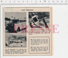 Ancien Camion De Pompiers Amphibie Japonais Japon Tracteur-tondeuse Travaux Autoroute Véhicule Autoroutier CHV20 - Documentos Antiguos
