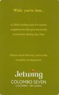 SRI LANKA KEY HOTEL  Jetwing Colombo Seven - Hotelkarten