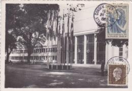 CP (palais Du Conseil De L'Europe) Obl. Cachet Conseil De L'Europe Strasbourg Le 26/8/50 Sur N° 692, 762 - Storia Postale