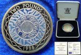 "UK - 2 Pounds 1998 ""Technology"" KM# 994a P30 In Box & COA Proof Piedfort Coin - Edelweiss Coins - Grand Bretaña"