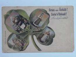 Turkey 251 Uskub Gruss 1900 Clover - Türkei