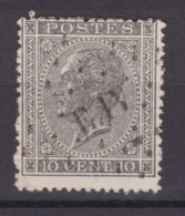 N° 17 A : AMBULANT E IV   LIEGE ERQUELINNES COBA +10.00 - 1865-1866 Profile Left