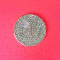 1 Peseta Münze Aus Spanien Von 1944 (schön) - [ 4] 1939-1947 : Gobierno Nacionalista
