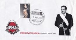 DR. RAUL RICARDO ALFONSIN 1927-2009. UCR UNION CIVICA RADICAL - COMITE NACIONAL. ARGENTINA 2010 SPC SPECIAL COVER -LILHU - Other