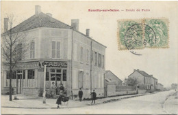 10 CPA ROMILLY SUR SEINE ROUTE DE PARIS N01 - Romilly-sur-Seine