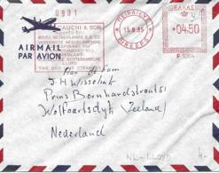 "EMA 1965 "" Royal Netherlands Lloys "". Flamme Rouge Sur Lettre. Cover - Affrancature Meccaniche Rosse (EMA)"