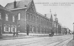 Houdeng-Goegnies.-La Maison Du Peuple Et Ses Magasins. - Belgio