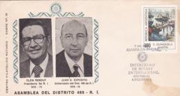 ASAMBLEA DEL DISTRITO 489, ROTARY CLUB DE PILAR. CLEM RENOUF, JUAN EXPOSITO. ARGENTINA 1978 SPC SPECIAL COVER RARE LILHU - Rotary, Club Leones