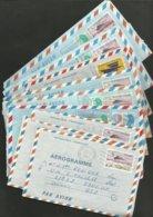 Lot De 9 Aérogrammes Voyagés Pour Les USA / Années 80.....voir Les Scans - Poste Aérienne