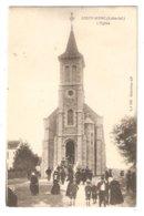 CPA 44 Saint MARC Sur Mer (proche St Nazaire) Sortie De Messe - Eglise - Animation - Francia
