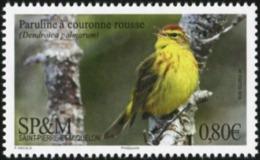 SAINT PIERRE AND MIQUELON SPM 2018 Red-Headed Warbler Bird Birds Animals Fauna MNH - Birds
