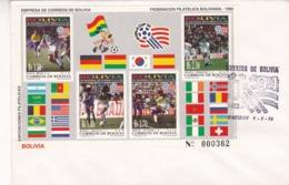 FIFA WORLD CUP '94 U.S.A.. BOLIVIA 1994 FDC BLOCK FOOTBALL, FUTBOL -LILHU - 1994 – Stati Uniti
