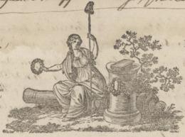 Héraldique Tribunal Criminel Du Haut-Rhin Sujet : Arrestation Et Condamnation J.P.Krauss Prêtre An 3 - 1794 - Documents Historiques