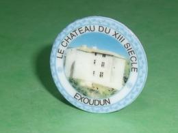 Fèves / Autres / Divers : Assiette , Le Chateau Du XIII , Exoudun , Perso T119 - Santons/Fèves
