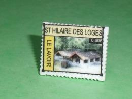 Fèves / Autres / Divers / Régions  : Timbre , St Hilaire Des Loges , Le Lavoir , Perso T119 - Regionen