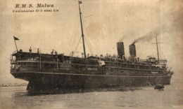 R.M.S. MALVA  Orion, Orient Line. CARGO SHIP - Paquebote