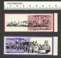 B56-03 CANADA-USA Winnipeg Pembina Bileski Local Post 1980 MNH - Local, Strike, Seals & Cinderellas
