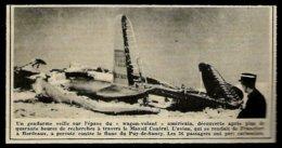 1951 --  PUY DE SANCY GENDARME SURVEILLANT UN AVION AMERICAIN CRACHé  3R722 - Zonder Classificatie