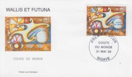 Enveloppe  FDC   1er  Jour    WALLIS  ET   FUTUNA     COUPE  DU  MONDE  De  FOOTBALL   2002 - 2002 – Corée Du Sud / Japon