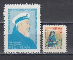 Vietnam 1981 - Ho Chi Minh And Werkschutz Woman, Portofreiheitsmarken Mi-Nr. 35/36, MNH** - Vietnam