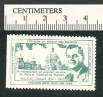 B56-09 CANADA Social Credit 1965 Political Stamp Bennett MNH - Local, Strike, Seals & Cinderellas