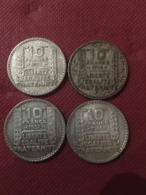 - Monnaies Argent - 10 Francs Turin -  Pièces De 1930 à 1934  - état TB - - Frankrijk