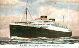 R.M.M.V. BRITANIC  Orion, Orient Line. CARGO SHIP - Paquebote