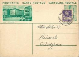 """PK 133  """"Biel - Bienne""""  (Geschäftshäuser)           1934 - Interi Postali"""