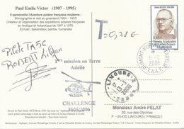 TAAF - Dumont D'Urville-T.Adélie: Carte Illustrée PE Victor Avec Timbre N°405 Bauer + Taxe - 06/02/2006 - Franse Zuidelijke En Antarctische Gebieden (TAAF)
