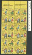 B56-45 CANADA 1981 Crippled Children Easter Seals Sheet B MNH - Local, Strike, Seals & Cinderellas