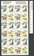 B56-51 CANADA 1989 Crippled Children Easter Seals Sheet MNH - Local, Strike, Seals & Cinderellas