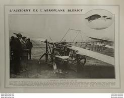 1908 AVIATION - BLÉRIOT - L'ACCIDENT DE L'AÉROPLANE - ISSY LES MOULINEAUX - LA VIE AU GRAND AIR - Livres, BD, Revues