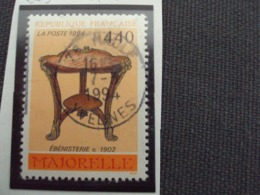 """1990-99 Timbre Oblitéré N°  2856   """" Arts Décoratifs: Majorelle    """"    Net  0.40 - Gebraucht"""