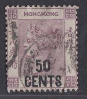 Hong Kong - 1885-90 - 50c On 48c Yv.55 - Used - Hong Kong (...-1997)