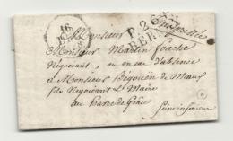 Eure - Bernay Pour Le Havre. LAC En Port Payé De 1828. On Parle D'esclaves // St Domingue - Marcofilia (sobres)