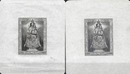Luxembourg  -  1945,30.Sept. - Blockausgabe ; Madonna Von Luxembourg  St T Dr  387   2 Scans - Blocs & Feuillets