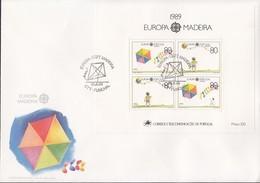PORTUGAL MADEIRA Block 10 FDC, EUROPA CEPT 1989, Kinderspiele - Europa-CEPT