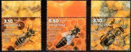 CROATIA , 2019, MNH, INSECTS, BEES, 3v - Abeilles