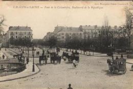 71 - CHALON SUR SAONE - PONT DE LA COLOMBIÈRE, BOULEVARD DE LA RÉPUBLIQUE - Chalon Sur Saone
