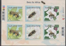 SOUTH AFRICA, 2017, MNH, BEES, INSECTS,  SHEETLET - Abeilles