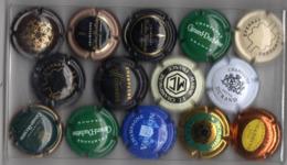 LOT DE 14 PLAQUES DE MUSELET CHAMPAGNE - Champagnerdeckel