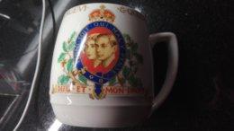 Mug King George Elisabeth Woods Ivory Potte'ry - Woods Ware