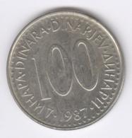 YUGOSLAVIA 1987: 100 Dinara, KM 114 - Yugoslavia
