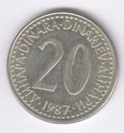 YUGOSLAVIA 1987: 20 Dinara, KM 112 - Yugoslavia