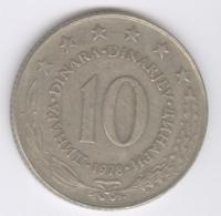 YUGOSLAVIA 1978: 10 Dinara, KM 62 - Yugoslavia