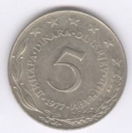 YUGOSLAVIA 1977: 5 Dinara, KM 58 - Jugoslawien