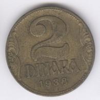 YUGOSLAVIA 1938: 2 Dinara, KM 20 - Yugoslavia