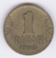 YUGOSLAVIA 1938: 1 Dinar, KM 19 - Jugoslawien