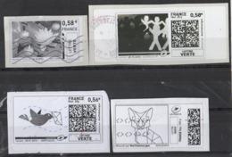 2013 -2014 - 4 Vignettes Illustrées - 2010-... Illustrated Franking Labels